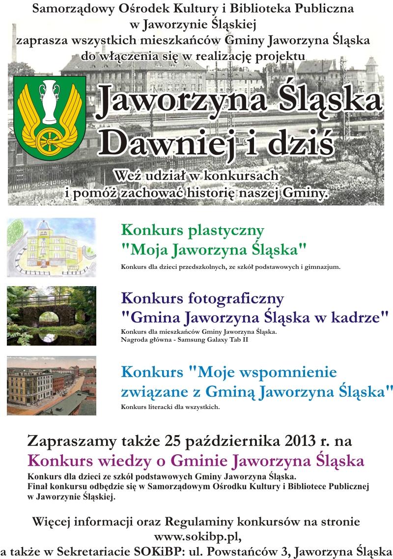 Jaworzyna Śląska dawniej i dziś – konkursy
